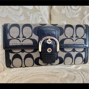Coach wallet • monogram black wallet